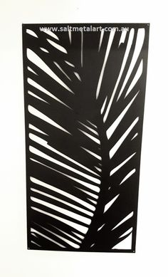 Palm Frond privacy screen  panel great for the out door living areas or inside supplied raw or flat black.