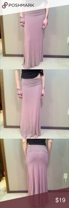 """NEW LIST Tan Maxi Skirt Like new tan/light cocoa maxi skirt with ruching at the hips. This skirt is best for those under 5'3"""". It just skims the floor of I wear it low on my hips and I'm just barely under 5'3"""". Soft and very stretchy!! Measurements are taken with skirt laying down flat and are approximate but I try my best. Hips 12.3"""", length 36.25"""", bottom 28.7"""". Hand wash 95% rayon, 5% spandex Skirts Maxi"""