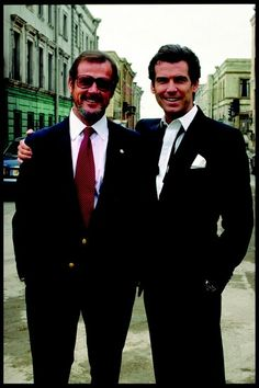 Pierce Brosnan and Roger Moore