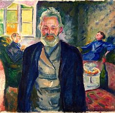 Edvard Munch ~ Old Man in an Interior, 1912-13