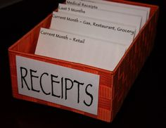 Simple Receipt Organization { thelovebugsblog.blogspot.com }
