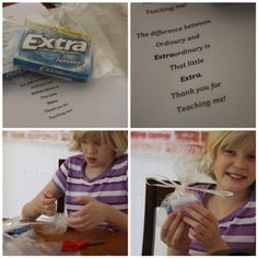 Thank you gift with Extra gum