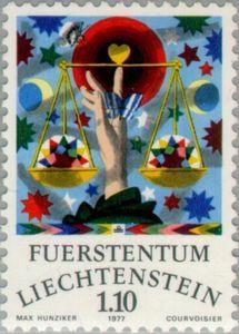 Sello: Libra (Liechtenstein) (Zodiac) Mi:LI 672,Yt:LI 611,Zum:LI 610
