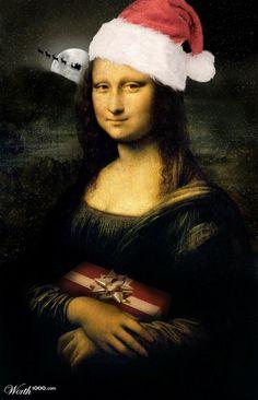 Mona Lisa at Christmas