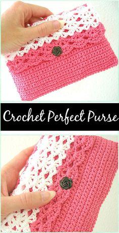 CrochetPerfect Purse - crochet clutch bag