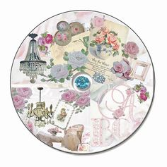 shabby chic scrap book cd, antique graphics, vintage roses