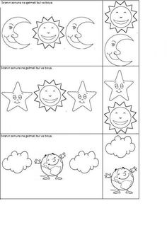 #örüntü Kindergarten Worksheets, Preschool Activities, Space Coloring Pages, Evaluation, Space Theme, Early Literacy, Day For Night, Art Projects, Classroom