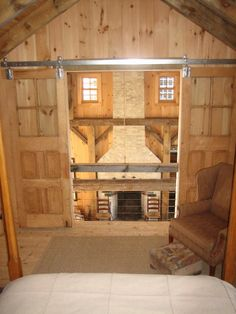 love this view from the loft bedroom ~ also the sliding wood doors ~ from farmhaus - hauswork