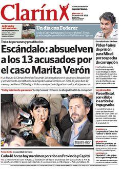 Escándalo en Tucumán: absolvieron a los 13 acusados por el secuestro de Marita Verón. Más información: http://www.clarin.com/sociedad/Absolvieron-acusados-secuestro-Marita-Veron_0_827317406.html