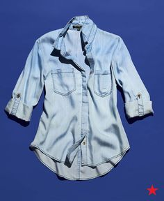 The best base for every fall look is a chambray shirt. Wear it open over and white tee with distressed black jeans for casual days. Pair with an A-line skirt for a denim-on-denim look you can wear to work. Or even layer under a jean jacket for an outfit that's all about denim.