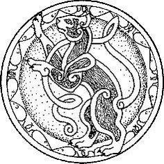 Celtic symbol for Cat Celtic Symbols, Celtic Art, Celtic Knots, Celtic Patterns, Celtic Designs, Design Celta, Celtic Animals, Freya, Celtic Mythology