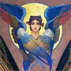 Word of the angelic state saint Religious Icons, Religious Art, Religious Images, Seraph Angel, Petit Tattoo, Sphinx, Christian Artwork, Jesus Christus, Byzantine Icons