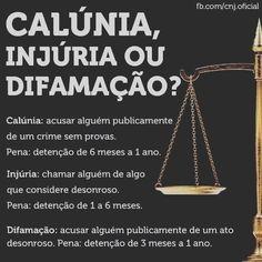 Para quem ainda tem dúvidas... Entendam:   #DantasAdvogadosAssociados #Calúnia #Injúria #Difamação #Direito #Dever #Advocacia #Advogado #Lei #Justiça #Oficial #OAB #CNJ   Av. Humberto Monte, 2929, Sala 719 Sul - Ed. Harmony Premium - Pici - Fones: (85) 3021.7219 / (85) 8630.5925 / (85) 9911.6127