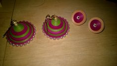 Quilled studs and jhumkas