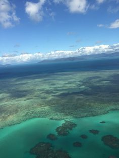 The reef from above, easily accessible by boat or helicopter from Port Douglas