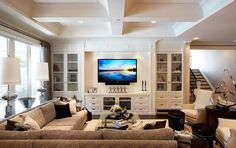 would want a wall unit built in to family room