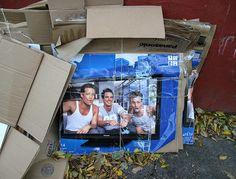 #The plasma TV's cardboard...