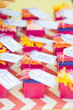 We're feeling the need for some festive fiesta inspiration! Here are some of our favorite Cinco de Mayo party ideas. Summer Wedding Favors, Wedding Favor Tags, Wedding Ideas, Wedding Decor, Wedding Stuff, Fiestas Party, Fiesta Theme Party, Mexican Party, Mexican Birthday