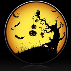 Halloween Pumpkin and Bats Spare Tire Cover-Custom made to your exact tire size - ALL OTHER SIZES
