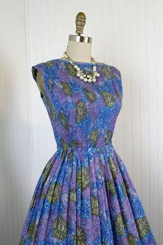 1950s Dress  Vintage 50s Dress  Purple Olive by jumblelaya on Etsy, $108.00