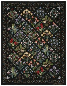 Patchwork Quilt Patterns, Patchwork Fabric, Patchwork Designs, Applique Quilts, Applique Designs, Patchwork Ideas, Crazy Patchwork, Hand Hooked Rugs, Vine Design