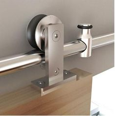 Barn Door Tracks - Round Rail Series: Stainless Steel Top Mount European Style Track