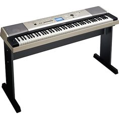 Yamaha Portable Grand Graded-Action USB Keyboard with Matching Stand and Sustain Pedal 88 piano-style keys with Graded Soft TouchUSB To Device: connect USB storage devices (storage d… Best Digital Piano, Digital Piano Keyboard, Yamaha Piano Keyboard, Yamaha Grand Piano, Yamaha Digital Piano, 88 Key Keyboard, Keyboard Lessons, Best Piano, Electric Piano