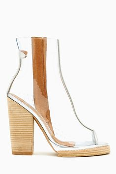 Ondine Clear Bootie by Jeffrey Campbell