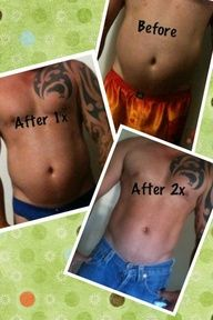Tone, Tighten, and Firm in as little as 45 minutes! These results are from only 2 wraps!!!  https://lovemywraps.myitworks.com  www.facebook.com/lovemywraps