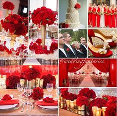 Pretty red wedding theme