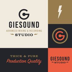 Logo and identity for advanced mixing and recording studio Giesound.