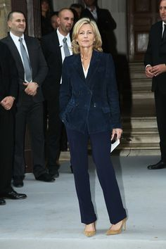 Claire Chazal in Christian Dior: Arrivals - Paris Fashion Week Haute Couture F/W 2013