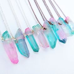 Fairy Kei Aura Quartz Crystal Necklace / Pastel Goth Choker / Cotton Candy Jewelry / Gift for Her / Rose Gold / Silver / Copper / Pink Blue Pastel Cotton Candy Quartz Crystal Necklace / Aura Quartz Necklace / Fairy Kei / Kawaii / Pastel Got Kawaii Jewelry, Cute Jewelry, Quartz Crystal Necklace, Crystal Jewelry, Candy Jewelry, Jewelry Gifts, Jewelry Tree, Copper And Pink, Stud Earrings
