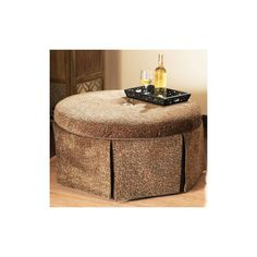 Leopard Skirted Coffee Table Ottoman Ottomans At Found On Polyvore
