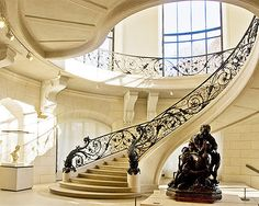 The staircase, not the creepy statue