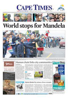 News making headlines: World stops for Mandela