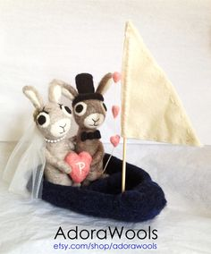 felt cake toppers... so adorable!