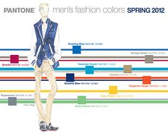 Men Fashion Pallete 2012    Im loving this seasons colour tones, we are of course using these in our latest retail designs for clients