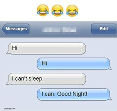 Funny Text About Sleep LOL