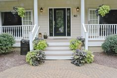 Fort Mill Country Salt Box Home Front Porches And Porch