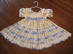 Vintage crocheted baby dress.