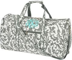Ella Grey Large Duffle Bag-large  WITH NO PERSONALIZATION