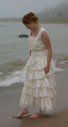 Camisole and petticoat set (natural, XL), $193.90