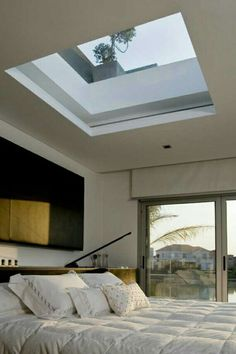 I like the large skylight but I prefer to install it elsewhere - not above my bed!