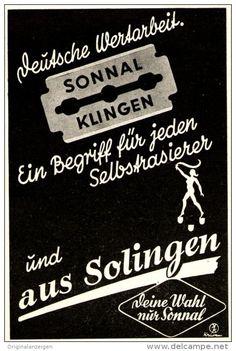 Original-Werbung/ Anzeige 1941 - SONNAL KLINGEN (RASIERKLINGEN) AUS SOLINGEN - ca. 65 x 100 mm