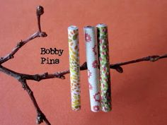 summer colored bobby pins made with magazine images