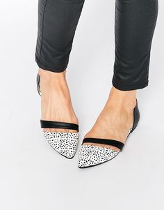 Image 1 ofPark Lane Two Part Flat Shoes