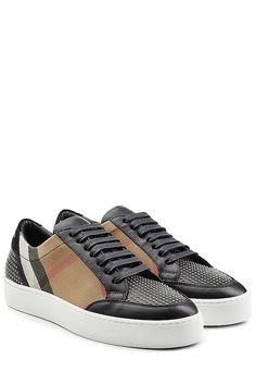 Burberry - Sneakers mit Leder, Karomuster und Nieten