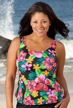 Beach Belle Montego Bay Plus Size Tankini Top Plus Size Swimwear Beach Belle. $34.20