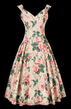 Lena Hoschek rose #dress #floral #fashion #1950s #partydress #vintage #frock #retro #sundress #floralprint #petticoat #romantic #feminine